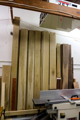 How to fix wood splitting fine woodworking magazine for Vertical lumber storage rack